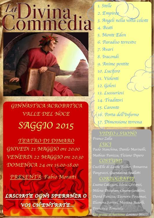 """Saggio """"La Divina Commedia"""", teatro di Dimaro"""
