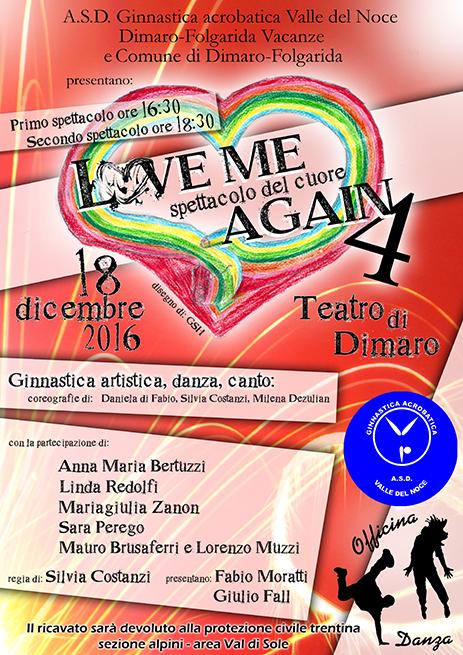 """DIMARO 18 DICEMBRE 2016 """"LOVE ME AGAIN 4 – SPETTACOLO DEL CUORE"""""""